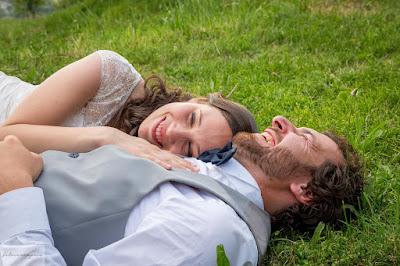 matrimonio verde foto senza posa