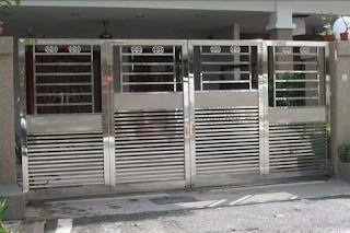 contoh pagar stenlis minimalis lipat