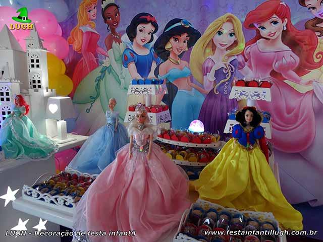 Ornamentação provençal Princesas Disney - Festa de aniversário
