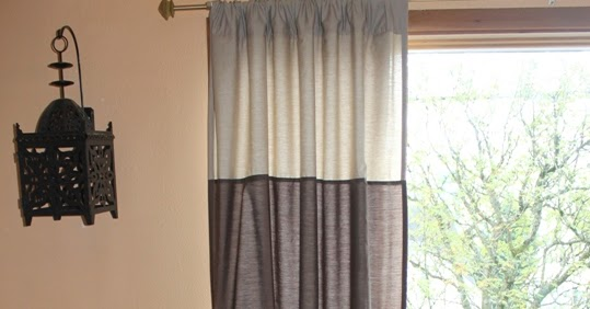 Becoming Maggie Blue Wide Striped Curtains From Walmart