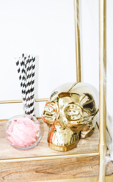 Glam Pink Fall Bar Cart Ideas by The Celebration Stylist