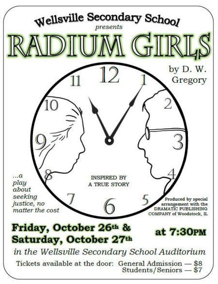 "10-26/27 ""Radium Girls"" Wellsville School"