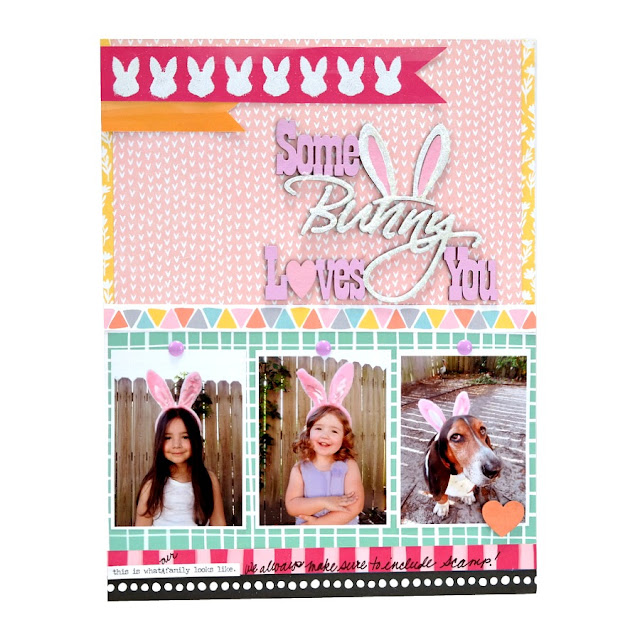 Some Bunny Loves You Easter Ecrapbook Layout
