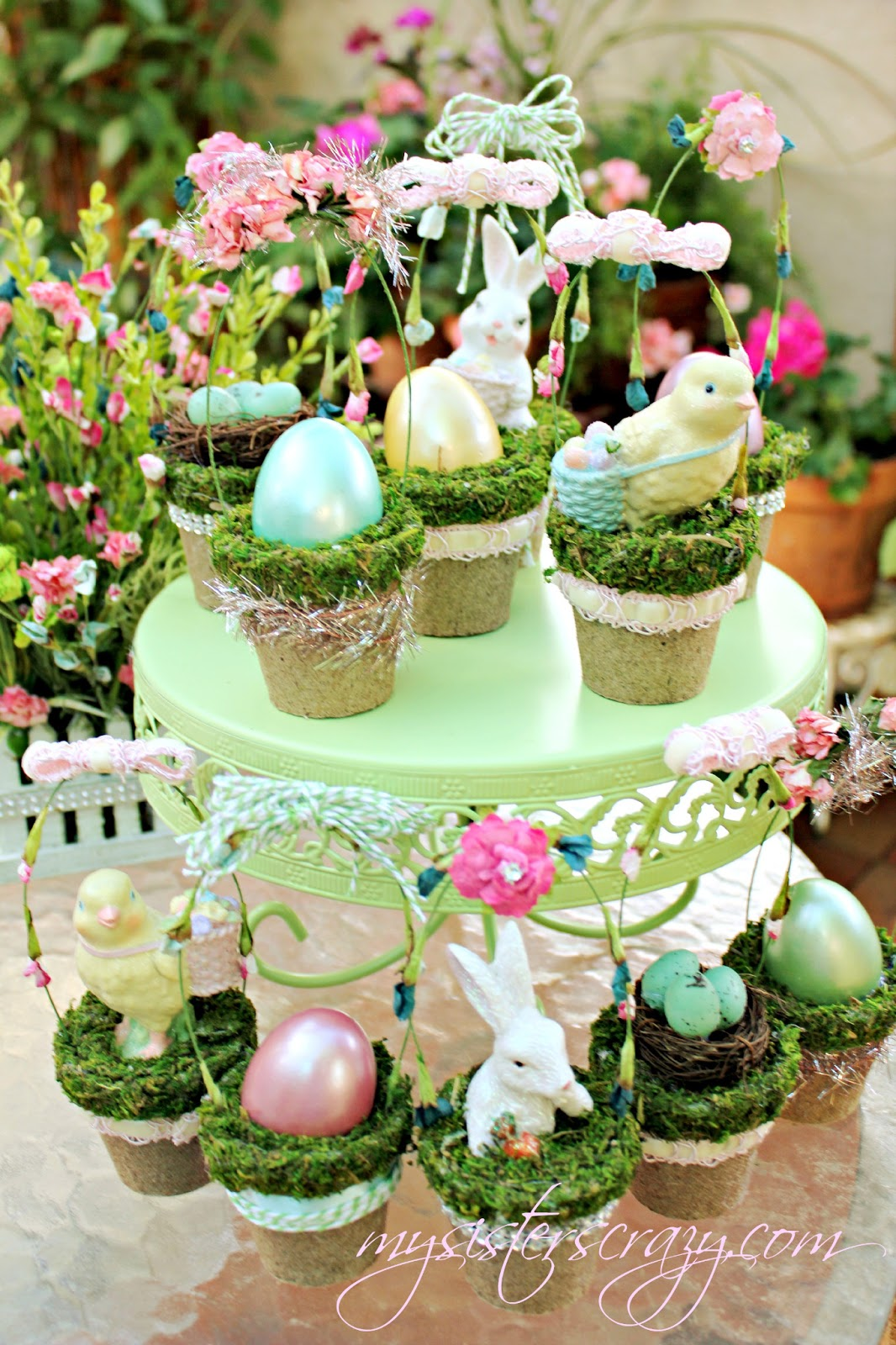 Cheap Spring Decorations: My Sister's Crazy!: DECORATING WITH SPRING AND EASTER CRAFTS