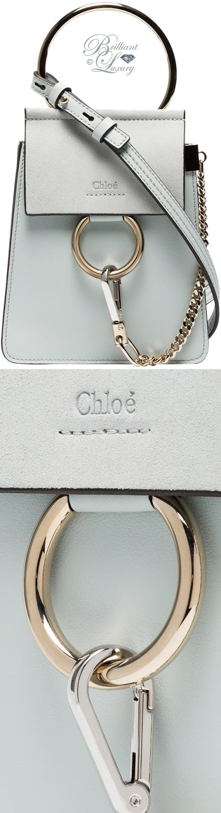 Brilliant Luxury ♦ Chloé Faye mini blue leather bracelet bag