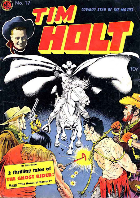 Tim Holt #17 golden age western comic book cover by Frank Frazetta