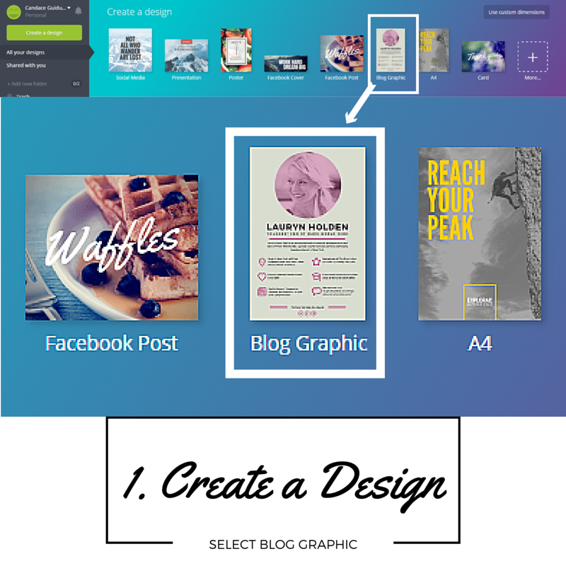 Step 1 - Create a Design and Select Blog Graphic
