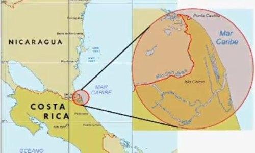 Rica Map Nicaragua Border Costa And Lake