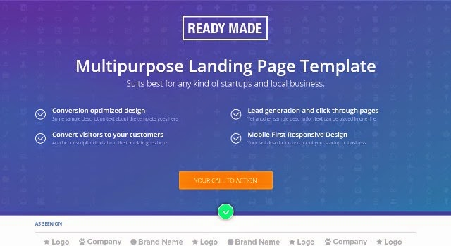 ReadyMade - Multipurpose Landing Page Template