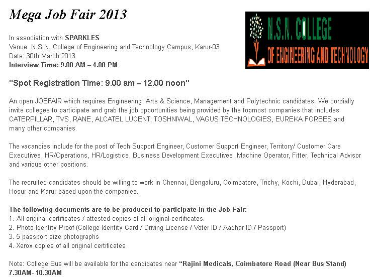Mega Job Fair by Multinational brands for Freshers and