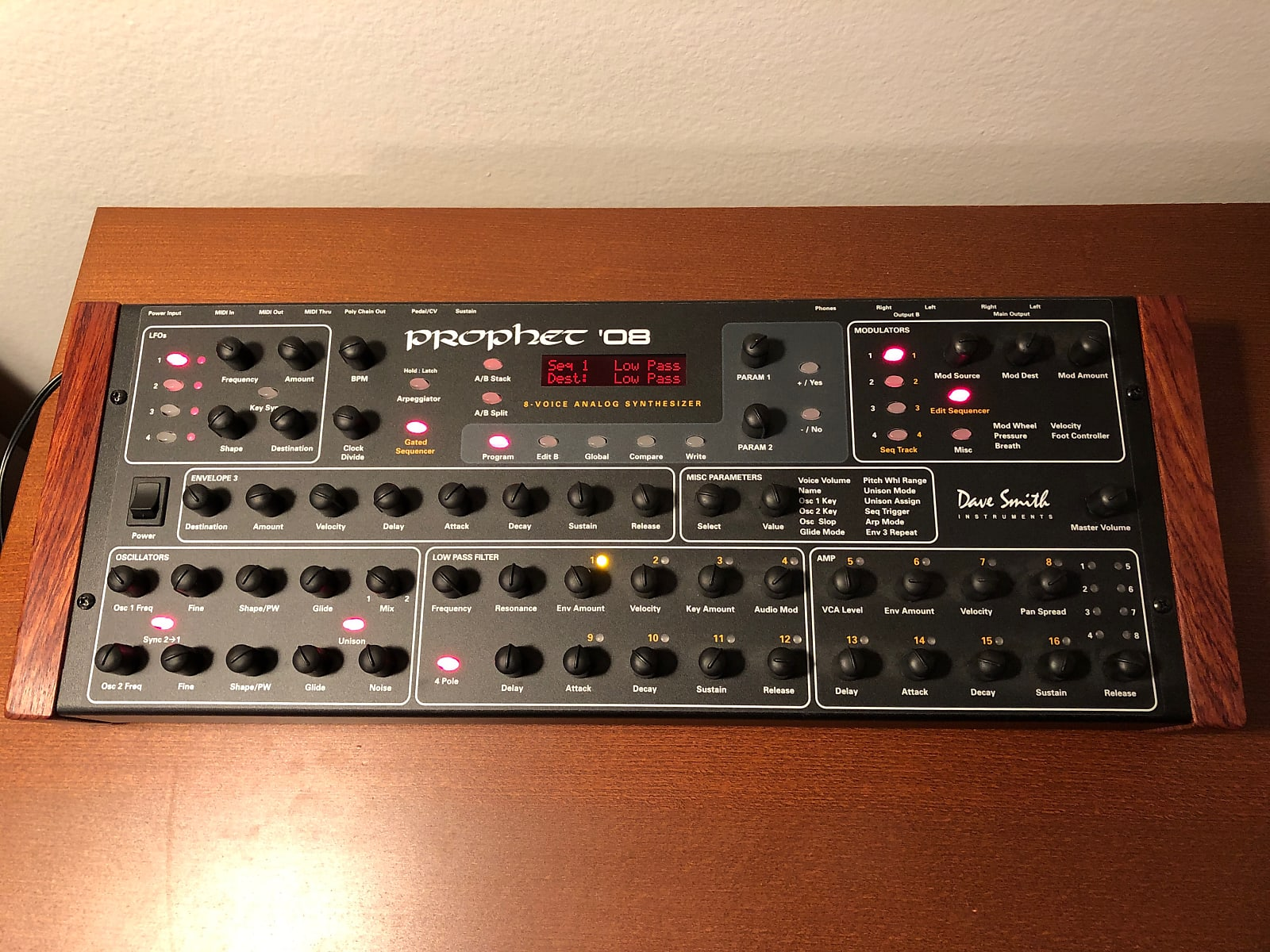 matrixsynth dave smith instruments prophet 39 08 pe synthesizer module wood cheeks rack ear. Black Bedroom Furniture Sets. Home Design Ideas