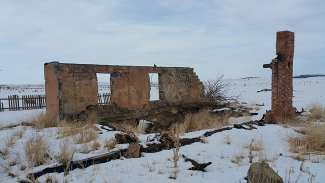 Abandoned buildings in Ludlow Colorado Ghost Town