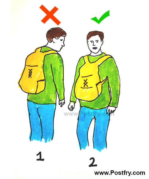 how to wear backpack in right way