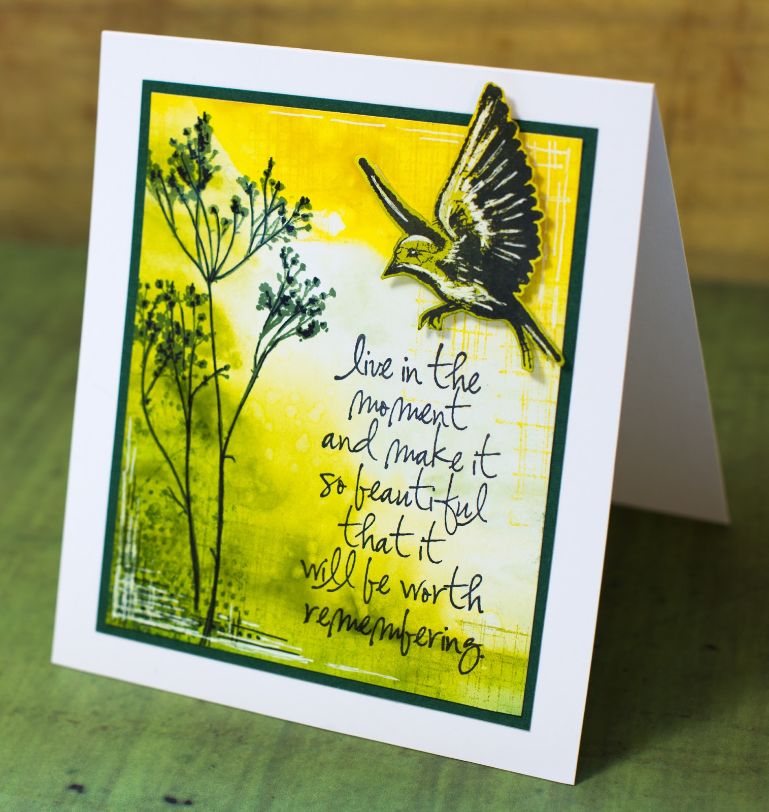 Card with painted background. Inspiration source: Creative Companion Vol III