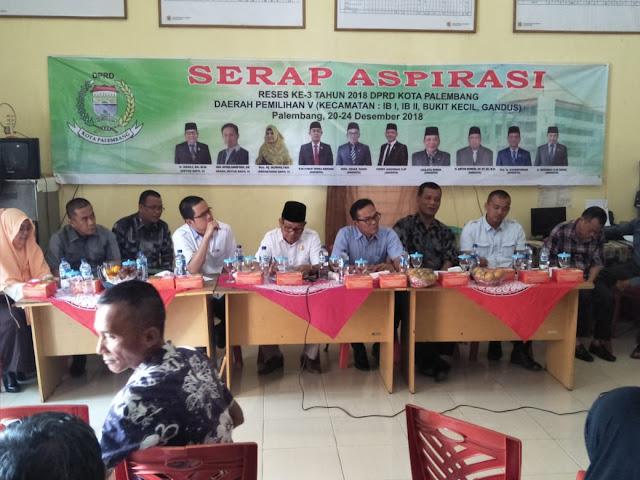 Anggota DPRD Kota Palembang Dapil-V Adakan Reses Ke-3 Serap Aspirasi Masyarakat