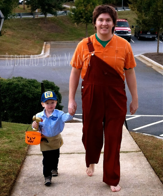 Wreck It Ralph, Fix It Felix Father and Son Costume
