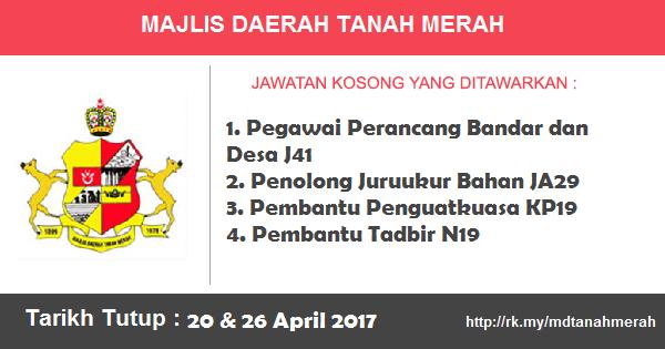 Jawatan Kosong di Majlis Daerah Tanah Merah