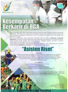 Lowongan Kerja PT. Bumitama Gunajaya Agro (Ditutup 15 Februari 2017)