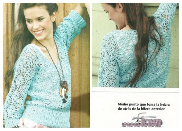 Jersey Dibujos entrelazados Crochet