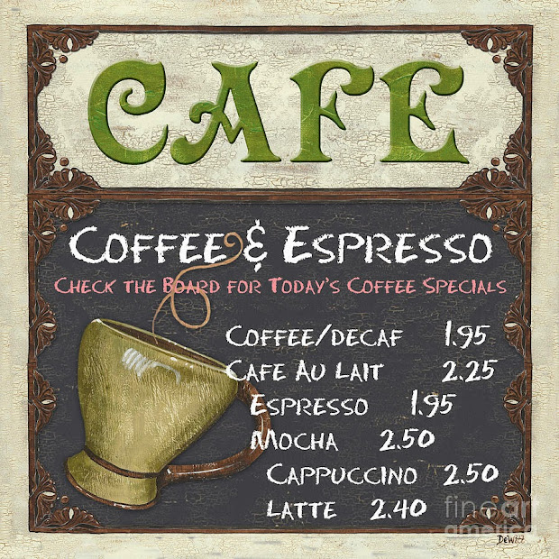 Vintage French Cafe Sign Story