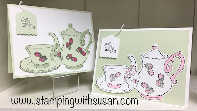 Stampin' Up!, Tea Together, Tea Time Framelits, www.stampingwithsusan.com, Cute Crew Punch Box, Wink of Stella,