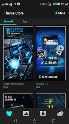 ScreenShot: Next Launcher 3D Shell Apk