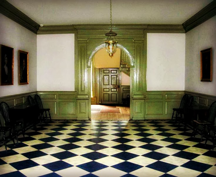 the Center Hall at the historic schuyler mansion