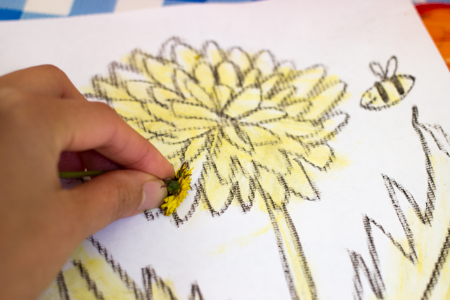 "How to ""paint"" with dandelions- this fun activity is perfect for spring and summer!"
