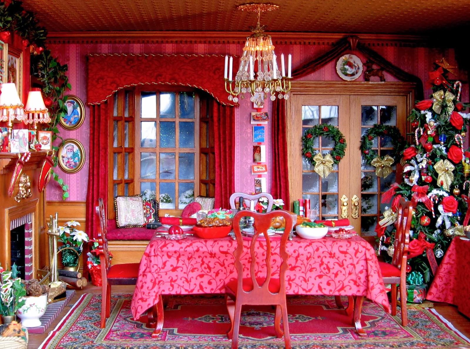blukatkraft dollhouse miniatures christmas room box 1 12. Black Bedroom Furniture Sets. Home Design Ideas