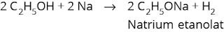 Reaksi alkohol dengan natrium