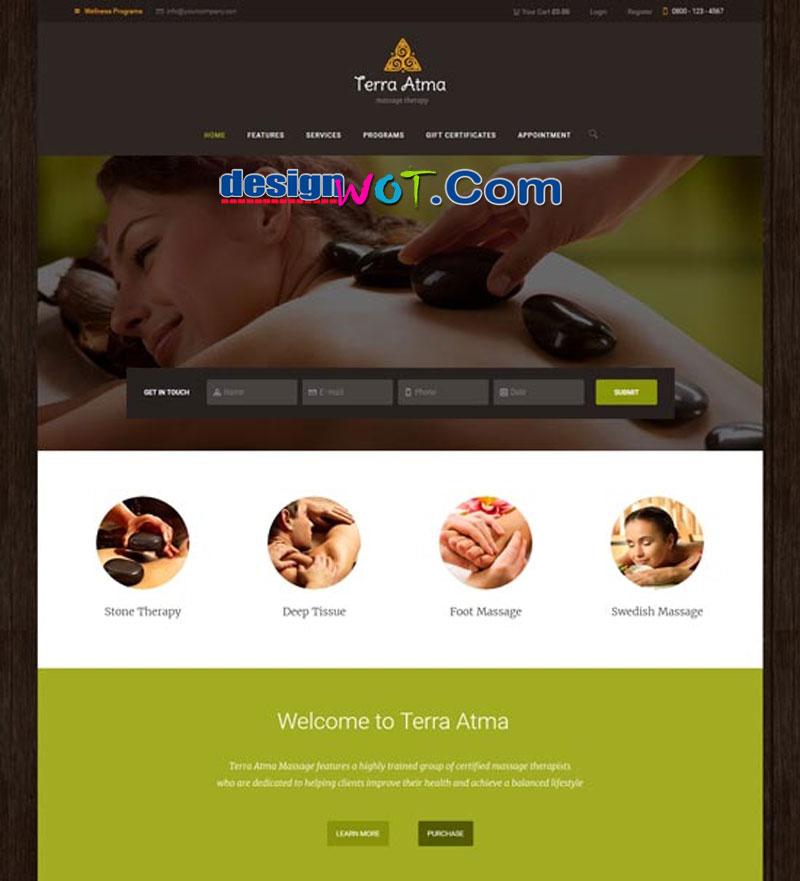 Terra Atma | Spa & Massage Salon WordPress Theme