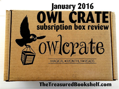 Enjoy a new book and lots of great book fandom with this Owl Crate subscription box.  In January 2016, we received some great items to keep us reading and decorating our library in style.