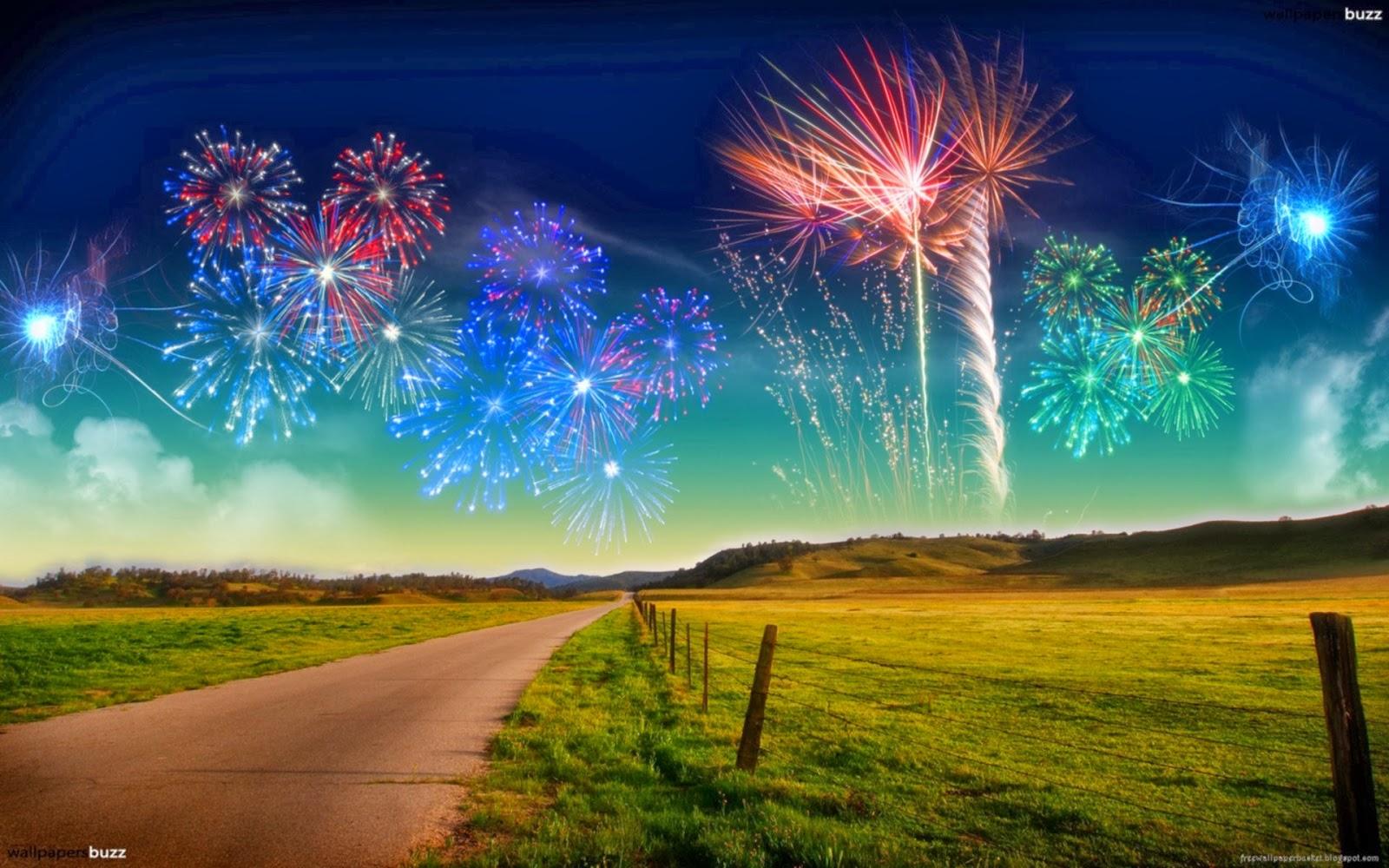 Celebration Background Hd: Majestic Firework For New Year Celebration; Holly