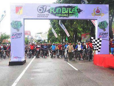 Korem Tadulako Gelar Fun Bike Meriahkan HUT ke 61 Kodam Merdeka