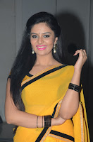 Sri Mukhi Glamorous Photos in Yellow Saree HeyAndhra