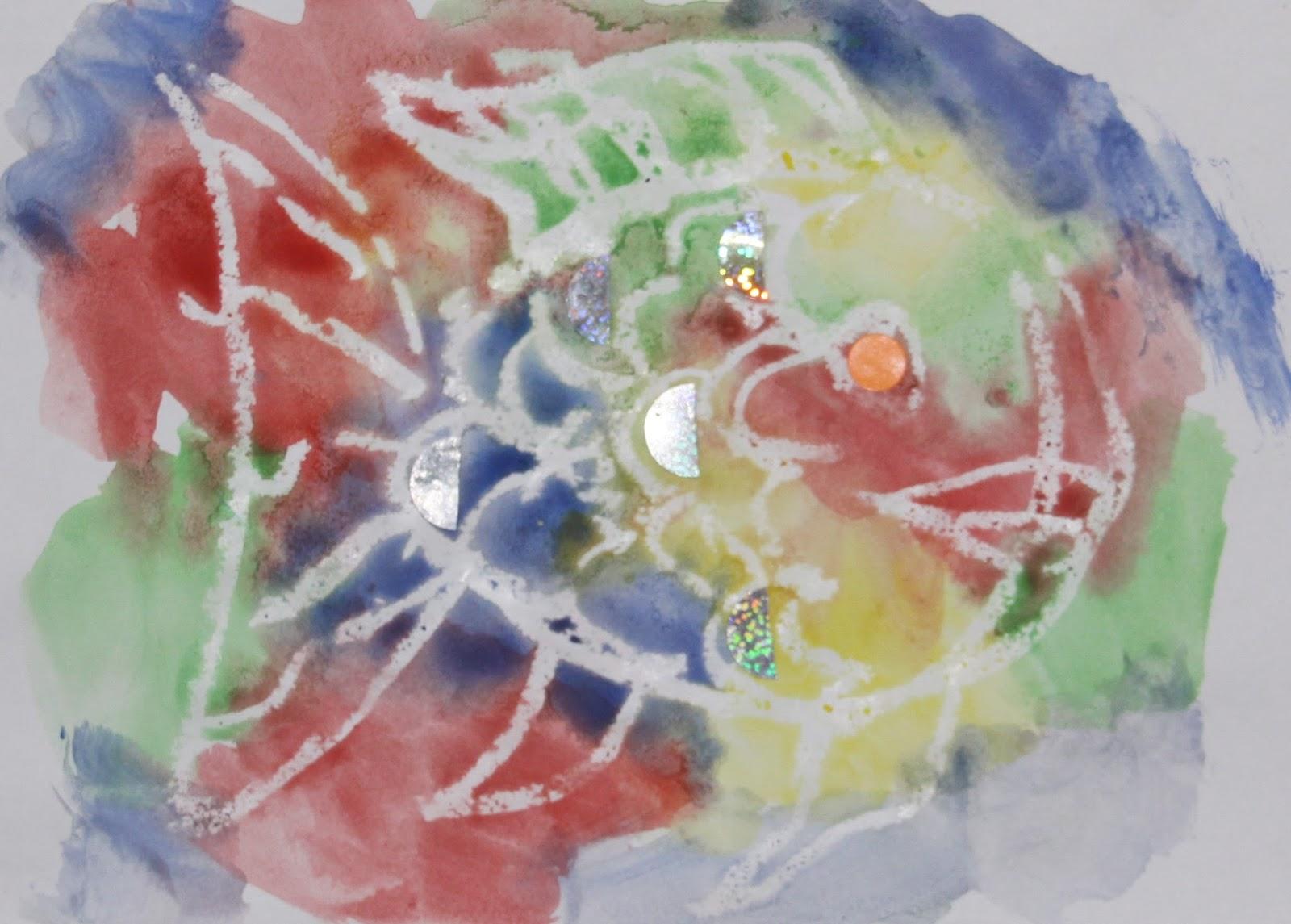 Arty Crafty Studio The Rainbow Fish Resist Painting