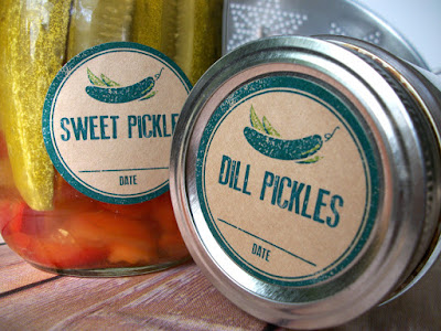 pickle canning labels