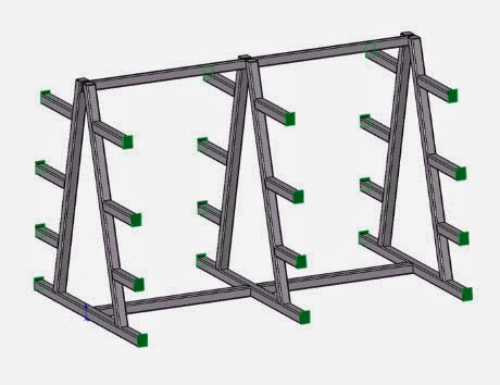 Drawing Steel Storage Rack in the SolidWorks Weldments