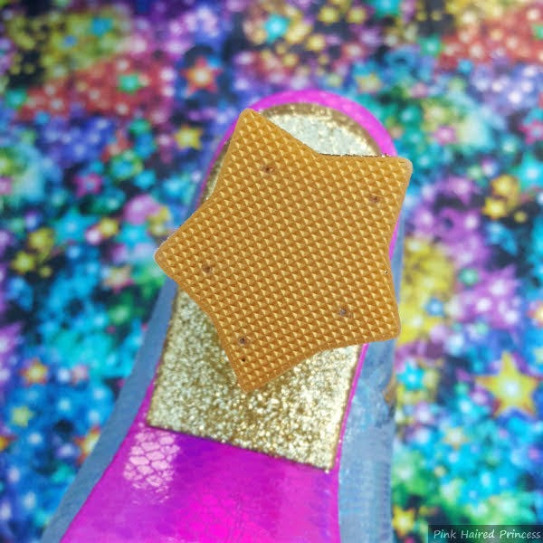 gold star shaped heel tip on boot