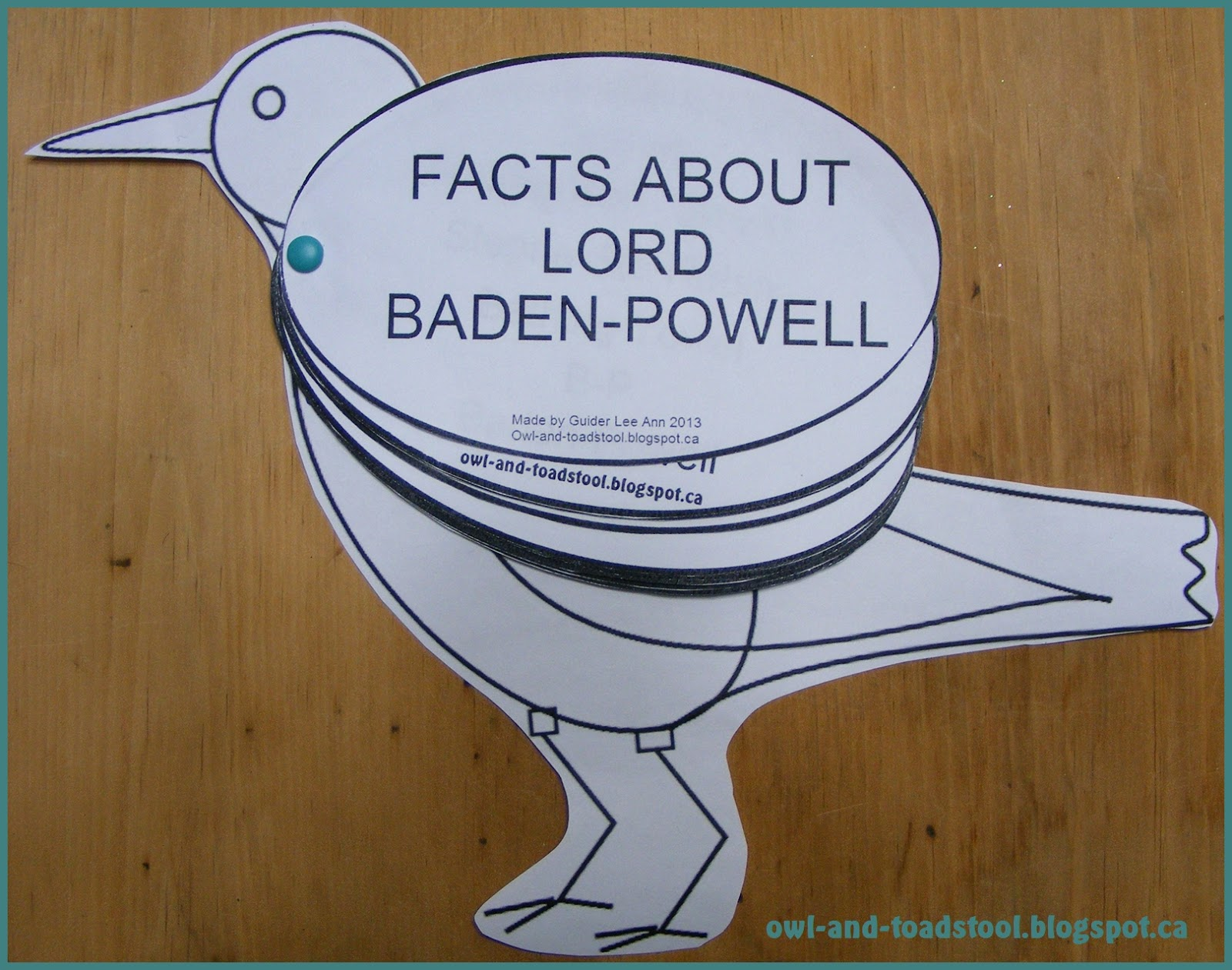 Owl Amp Toadstool Lord Baden Powell Facts Robin Activity
