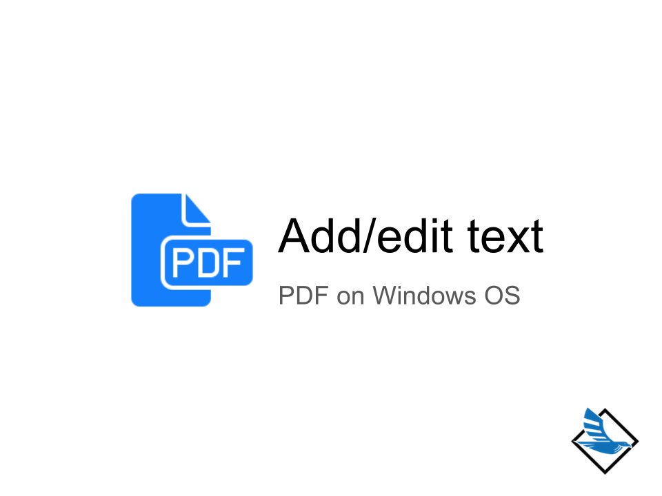 how to edit pdf on windows
