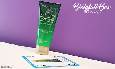 "BIOTYfull Box ""La Protégée"" crème pieds chanvria"