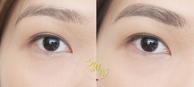 before and after photo of K-Palette Lasting 3Way Eyebrow Pencil shade 2