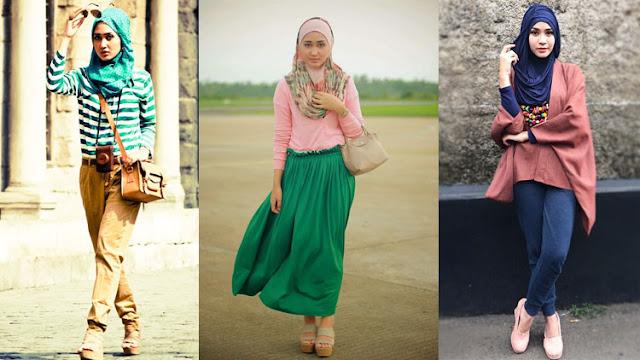 model gaya fashion terbaru yang bersangkutan dengan busana muslim ialah