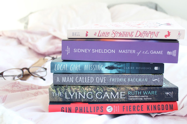 recently read, books I read, book recommendations, book review, local girl missing, Claire Douglas, a man called one, fredrik backman, the lying game, ruth ware, gin Phillips, fierce kingdom, master of the game, Sidney Sheldon, a little something different, sandy hall