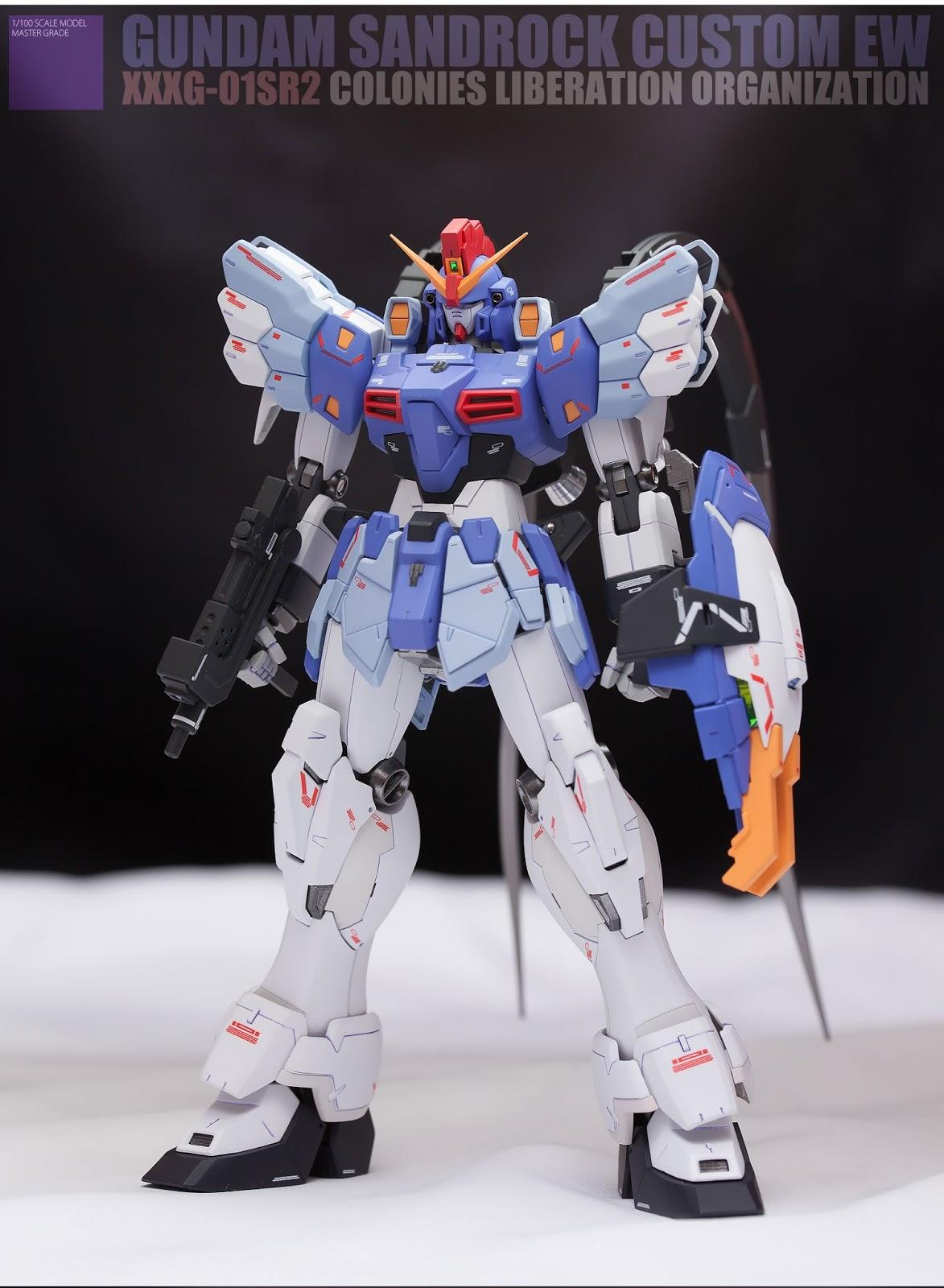 Custom Build: MG 1/100 Gundam Sandrock Custom EW ver. + Anti-Beam Cloak