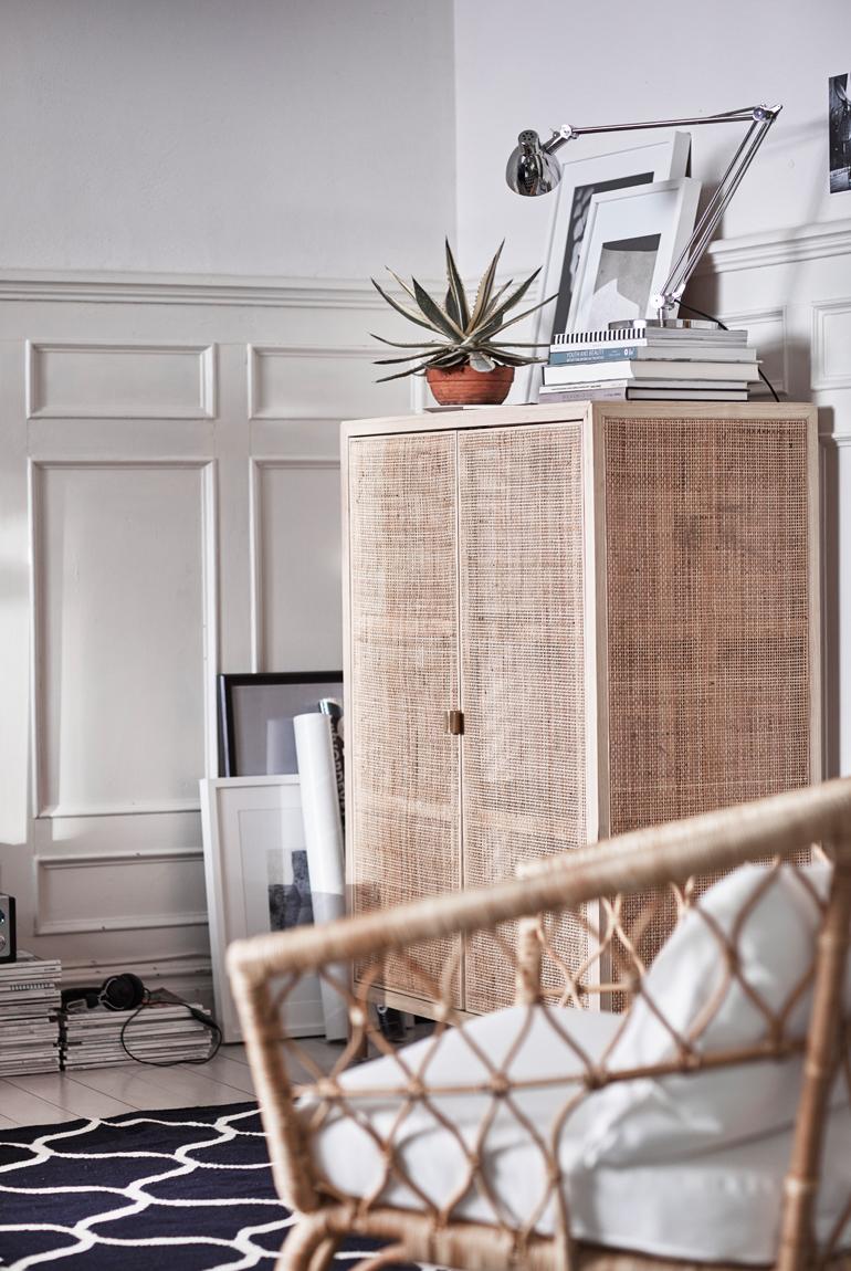 ikea stockholm ratan fresno armario inspiracion
