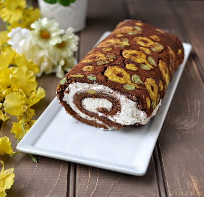 Patterned Swiss Roll Cake