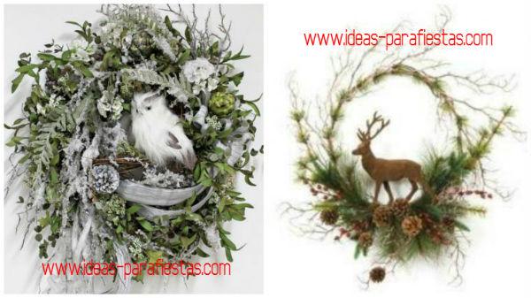 Corona de navidad con ramas