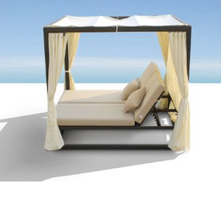 ... Renava Redondo Patio Canopy Day Bed With Dual Adjustable Backrests,  Outdoor Daybeds, Outdoor Furniture